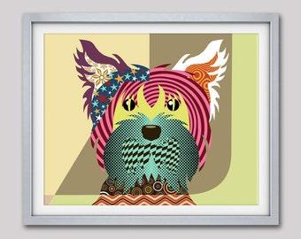 Yorkie Art, Yorkie Gifts, Yorkie Painting, Yorkie Decor, Yorkshire Terrier, Dog Pop Art, Dog Prints, Dog Lovers Gifts