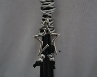 Leather necklace star