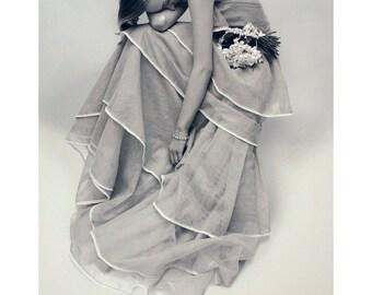 Norman Parkinson-Tiered Evening Dress-1986 Poster