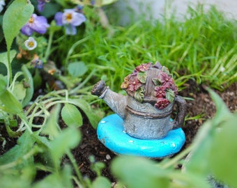 Watering Pot for Miniature Garden, Flower Fairy, Faerie, Miniatures, Watering can, water