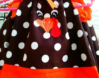Turkey face pillowcase dress.