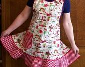 Red Retro Kitchen Apron - Size XL