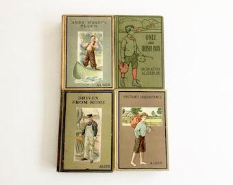 Horatio Alger Vintage Book Lot - 4 Vintage Boy Books - 1920's Collection -