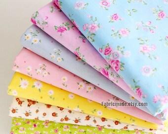 Fat Quarter Bundle Cotton Fabric Flower Cotton Bundle for Patch Work Craft- Sets for 7 each 50cm x 80cm