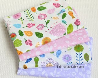 Floral Cotton Fabric Shabby Chic Pastel For Baby Quilting Clothing