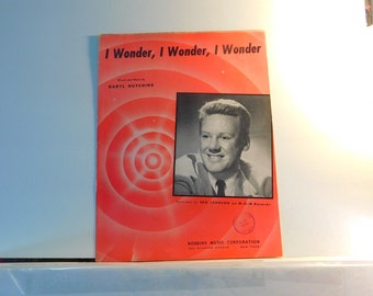 I Wonder, I Wonder, I Wonder - vintage sheet music with Van Johnson on the cover 1947