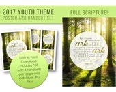 LDS Youth Theme 2017 Printable Ask of God Ask in Faith Poster and Handout Set Full Scripture
