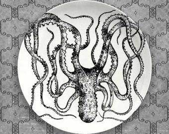 Octopus II melamine plate