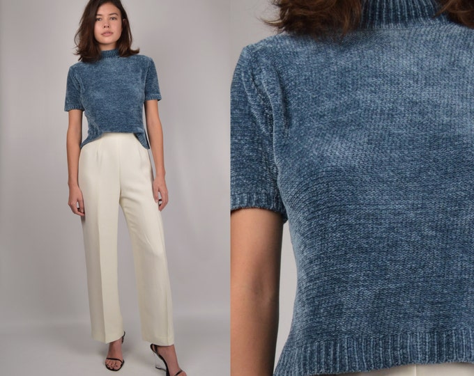 90's Softest Chenille Mock Neck Top