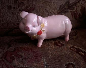 Pink Ceramic Piggy Bank by Mann