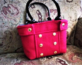 Red Lunch Tote Bag
