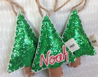 Christmas tree decoration, Christmas tree shaped decoration, Christmas ideas, Personalised, tree decor, glitter decoration, Christmas tree