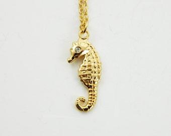 Gold Seahorse Necklace