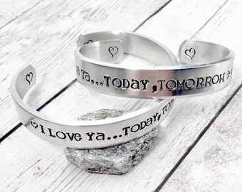 Mother Daughter Bracelets - Mother's Day Gift - Matching Bracelets - Personalized Bracelet - Today Tomorrow Always