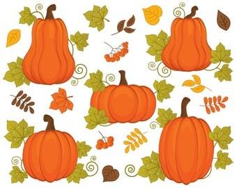 Pumpkins Clipart - Vector Pumpkins Clipart, Pumpkin Clipart, Fall Clipart, Harvest Clipart, Pumpkin Clip Art, Pumpkin Clip Art
