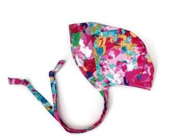 Baby bonnet / Toddler Bonnet / Sun Bonnet / Floral / Watercolor / Sun Hat