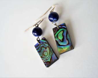 Abalone Earrings, Paua Shell Earrings, Paua Shell, Abalone, Beachy, Tropical, Shell Earrings,