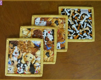 Quilted Coasters Lloyds and Barton Dogs 523