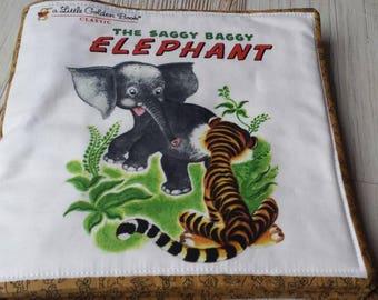 Little golden books  soft fabric book / toddler cloth book/saggy baggy elephant book