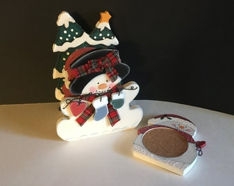 Vintage Wood Holiday Home Decor, Coaster Set