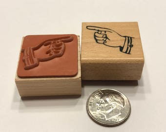 small pointing finger rubber stamp, 20 mm (BB4/3)