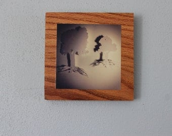 Paper Tree Wall Shadows Wooden Wall Hanging