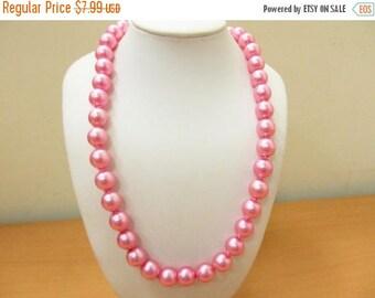 On Sale Vintage Bright Pink Pop Beads Item K # 1387