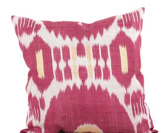 20 x 20 Pillow Cover Ikat Pillow Cover Old Ikat Pillow Cover Throw Pillow Decorative Pillow FAST SHIPMENT with ups or fedex - 09084