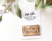 For You Christmas Gift Tag Set - Wood Tags - Handdrawn Poinsettia Tag - Wood Gift Tags - laser cut gift tags - poinsettia gift tag - S1006