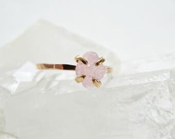 Promise Ring, Rose Quartz Ring, Rose Quartz Engagement Ring, Anniversary Ring, Rose Quartz Stone, Rose Quartz Jewelry, Engagement Ring