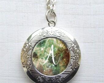 Personalized Photo Locket, Locket Necklace, Custom Letter Necklace