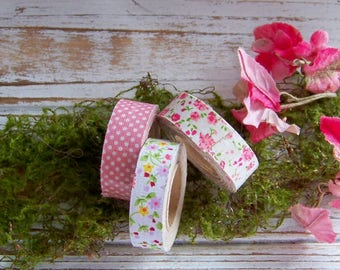 Fabric Tape Assortment, Fabric Tape, Scrapbook Tape, Decorative Tapes, Fabric Tape Set, Polka Dot Tape, Calico Tapes, Floral Tapes, Tapes