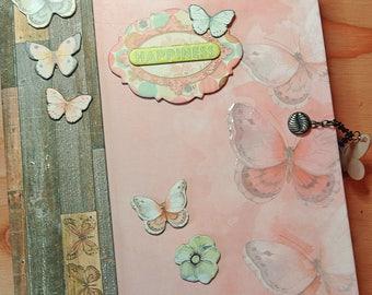 Scrapbook Mini Album - BoBunny Butterfly Kisses