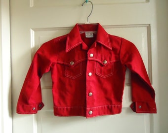 Vintage 70s BILLY THE KID Permanent Press Childs Western Jacket sz 3-5 years