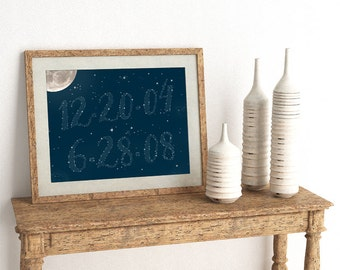 Written In The Stars - Write your special date in the stars - constellation - Frame Not Included