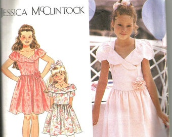 Simplicity 8833 cut to size 12 little girls dress