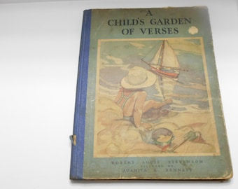 Vintage 1932, A Child's Garden Of Verses by Robert Louis Stevenson, Platt & Munk