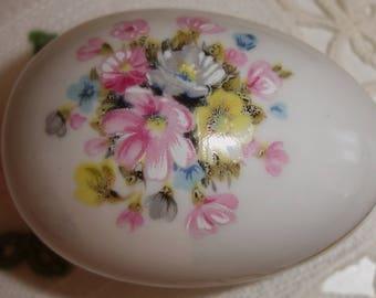 Limoges Trinket box, Hand painted, Easter Egg, Egg trinket box, Made in France, Limoges France, Mother's Day, Easter gift, Fine Porcelain