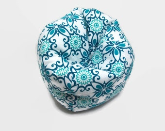 Teal And White Bean Bag Chair