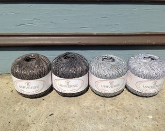 Universal Yarn's Fingering Weight Linen/Cotton/Glitter/Polyamide Blend Universe Yarn in Wood, Tin, Pottery & Bronze