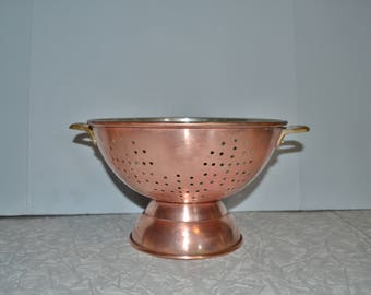 Vintage Copper Colander ~ Copper Strainer ~ Copper Kitchen Ware ~ Epsteam