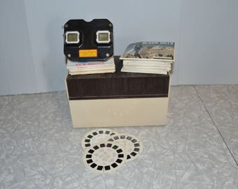 ViewmasterBakelite Stereoscope with Box & 60 + Reels ~ Vintage Childs Toy ~ Vintage Toys ~ Reel Viewer ~ Epsteam