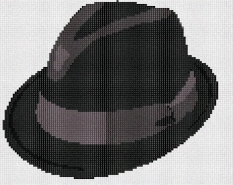 Needlepoint Kit or Canvas: Fedora