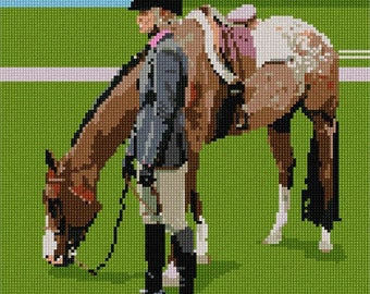Needlepoint Kit or Canvas: Rider