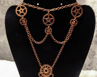 Gear Chandelier steampunk necklace