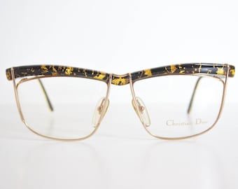 Christian Dior Vintage Frames. 2552. Gold Leaves/Black Acetate.
