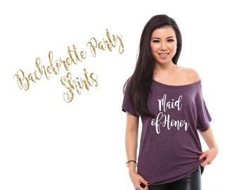 Maid of Honor Shirt- Maid of Honor Gift Maid of Honor Proposal, Bachelorette Party Shirts, Bridesmaid Shirts Bridesmaid Gifts, Bride Shirt