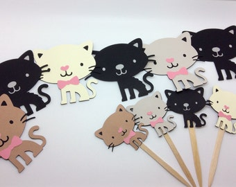 Cat banner, kitty party, kitty cupcake toppers, cat party, cat birthday, kids room, cat decoration, kitty decor, cat cupcake toppers