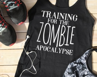 Zombie tank top - workout tank top - the walking dead shirt - gym tank