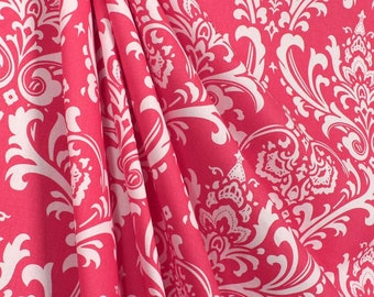 SUMMER SALE! Curtains, Designer Curtain Panels 24W or 50W x 63, 84, 90, 96 or 108L Ozbourne Candy Pink White Damask shown, MORE Colors